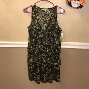NWT Speechless floral tiered racerback dress